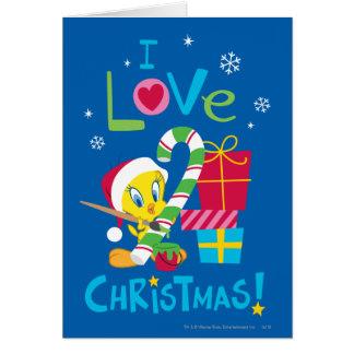 Amo el navidad - TWEETY™ Tarjeta De Felicitación