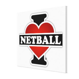 Amo el Netball Impresión En Lona Estirada