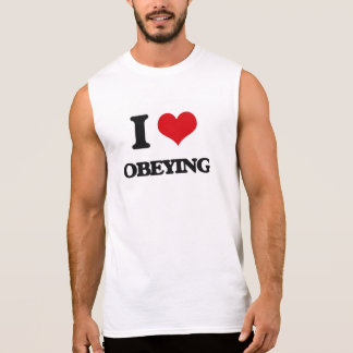 Amo el obedecer camiseta sin mangas