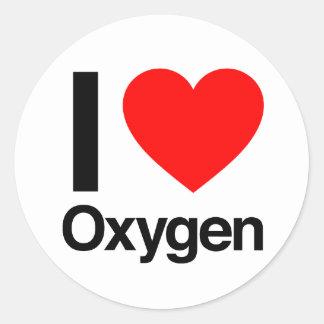 amo el oxígeno pegatinas redondas