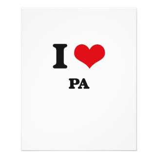 Amo el PA Folleto 11,4 X 14,2 Cm