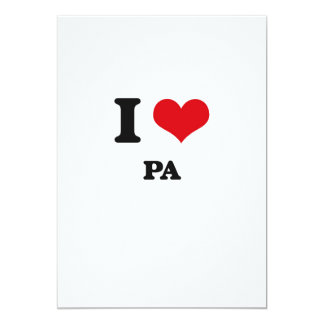 Amo el PA Invitación 12,7 X 17,8 Cm