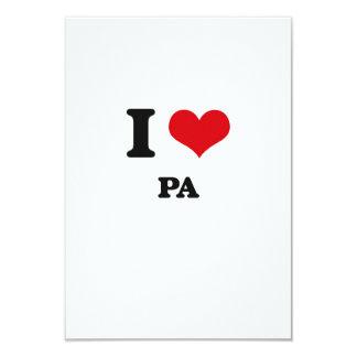 Amo el PA Invitación 8,9 X 12,7 Cm
