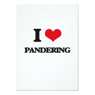 Amo el Pandering Invitación 12,7 X 17,8 Cm