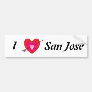 Amo el parachoque Sticker* de San Jose Pegatina De Parachoque