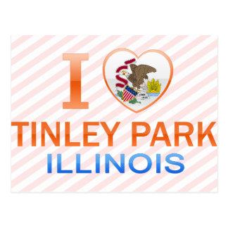 Amo el parque de Tinley, IL Postal