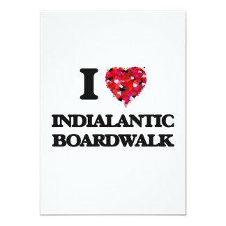 Amo el paseo marítimo la Florida de Indialantic Invitación 12,7 X 17,8 Cm