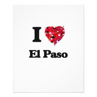 Amo El Paso Tejas Folleto 11,4 X 14,2 Cm