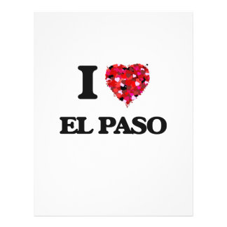 Amo El Paso Tejas Folleto 21,6 X 28 Cm