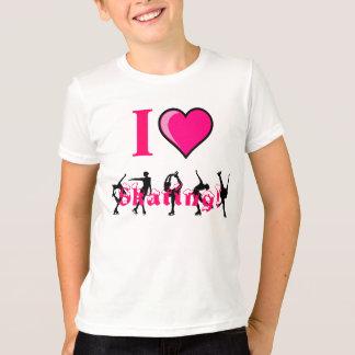 ¡amo el patinar! Embroma la camisa