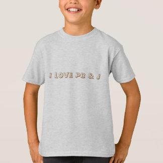 Amo el PB y la camiseta de los niños de la cita de