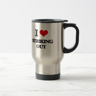 Amo el pegar hacia fuera taza de viaje de acero inoxidable