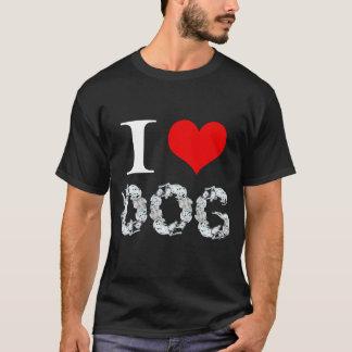Amo el perro camiseta