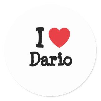 Amo el personalizado del corazón de Mario personal Etiquetas