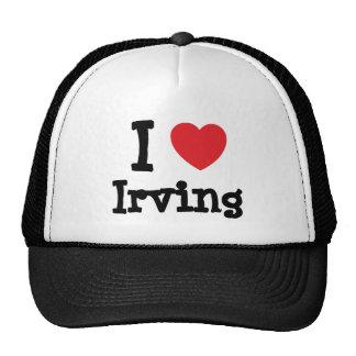 Amo el personalizado del corazón de Irving persona Gorro De Camionero