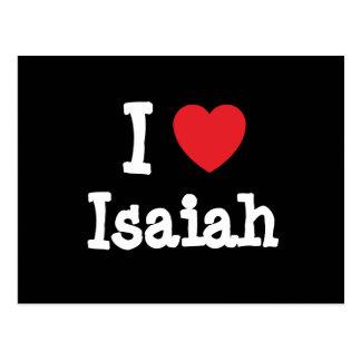 Amo el personalizado del corazón de Isaías persona Postal