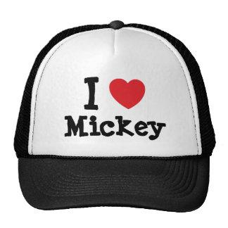 Amo el personalizado del corazón de Mickey persona Gorras De Camionero