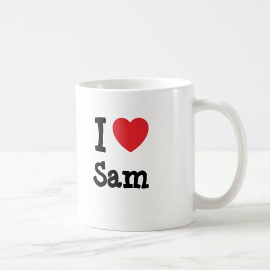 Amo el personalizado del corazón de Sam Taza De Café