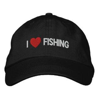 Amo el pescar del gorra bordado gorro bordado