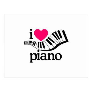Amo el piano/el teclado postal