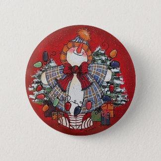 Amo el Pin del botón del navidad