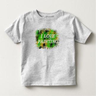 Amo el pintar de la camiseta del arte gráfico del