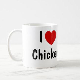 Amo el pollo taza de café