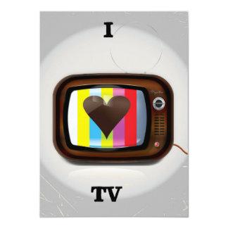Amo el poster del dibujo animado de la TV Invitación 11,4 X 15,8 Cm
