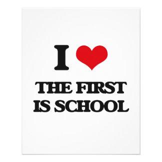 Amo el primer soy escuela folleto 11,4 x 14,2 cm