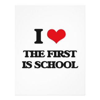 Amo el primer soy escuela folleto 21,6 x 28 cm