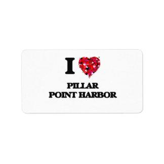 Amo el puerto California del punto del pilar Etiquetas De Dirección