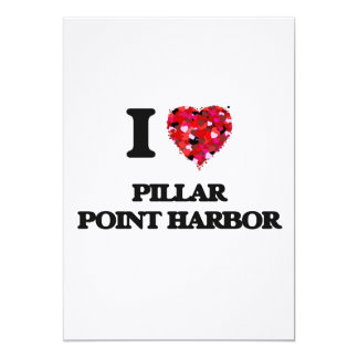 Amo el puerto California del punto del pilar Invitación 12,7 X 17,8 Cm