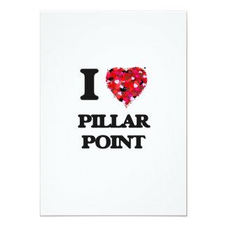 Amo el punto California del pilar Invitación 12,7 X 17,8 Cm