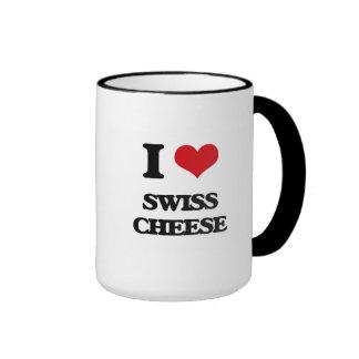 Amo el queso suizo taza a dos colores