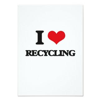 Amo el reciclar invitación 12,7 x 17,8 cm