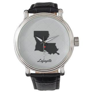 Amo el reloj de Lafayette Luisiana