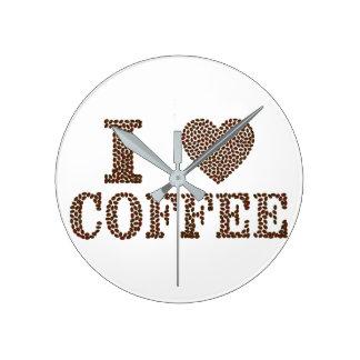 amo el reloj de pared del café