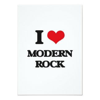 Amo el ROCK MODERNO Invitación 12,7 X 17,8 Cm
