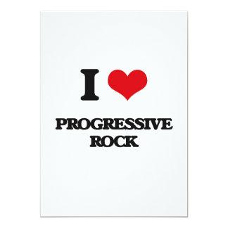 Amo el ROCK PROGRESIVO Invitación 12,7 X 17,8 Cm