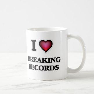 Amo el romper de expedientes taza de café