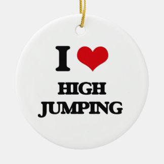 Amo el salto del alto adorno redondo de cerámica