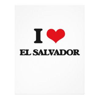 Amo El Salvador Flyer Personalizado