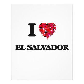 Amo El Salvador Folleto 11,4 X 14,2 Cm