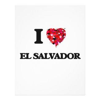 Amo El Salvador Folleto 21,6 X 28 Cm