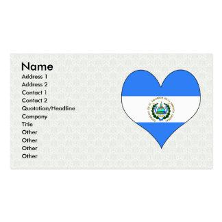 Amo El Salvador Plantilla De Tarjeta De Negocio
