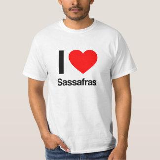 amo el sasafrás camiseta