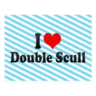 Amo el Scull doble Postales