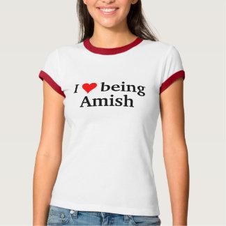 Amo el ser Amish Camisetas