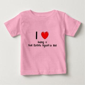 Amo el ser camiseta del niño de un agente