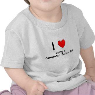 Amo el ser camiseta del niño de un friki del orden